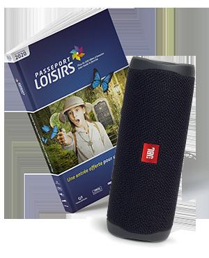 Pack Passeport Loisirs 2020 + Enceinte portable JBL Flip 5 Black