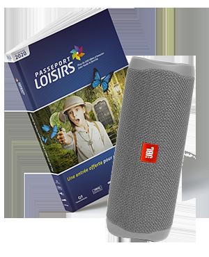 Pack Passeport Loisirs 2020 + Enceinte portable JBL Flip 5 Grey