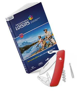 Pack Passeport Loisirs 2021 + couteau Swiza Tick-Tool Rouge