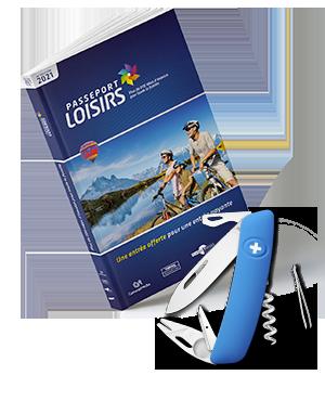 Pack Passeport Loisirs 2021 + couteau Swiza Tick-Tool Bleu