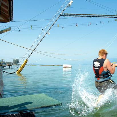Cable ski et location de pédalos, canoës, paddle board et bateaux