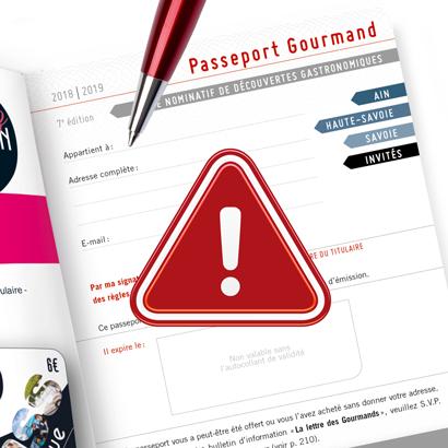 Avez-vous rempli votre passeport 2018?