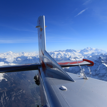 Flying Devil / Survol des Alpes en copilote