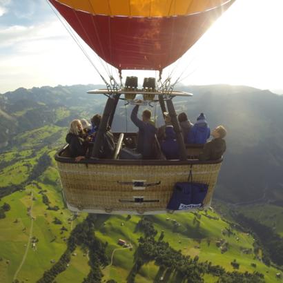 Vol en montgolfière - Château d'Oex