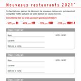 De nouveaux restaurants à découvrir avec votre PG 2021