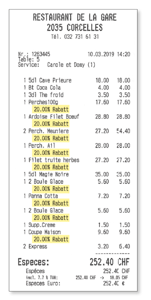 Ticket Restaurant de la Gare